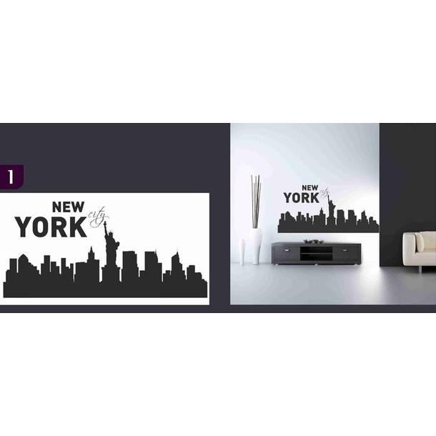 Samolepky na zeď MĚSTA color - NEW YORK