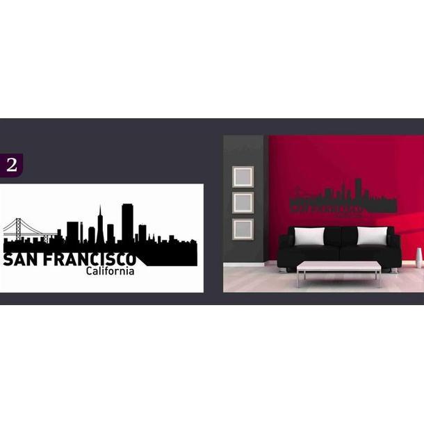 Samolepky na zeď MĚSTA color - SAN FRANCISCO