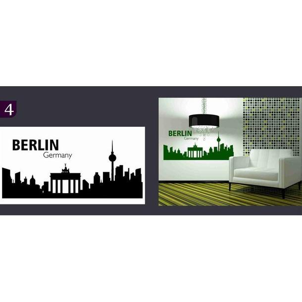 Samolepky na zeď MĚSTA color - BERLIN