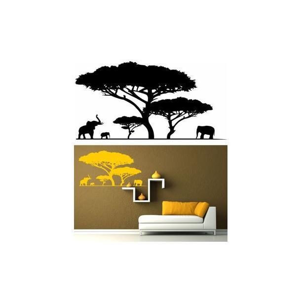 Samolepky na zeď SAFARI color - vzor 5