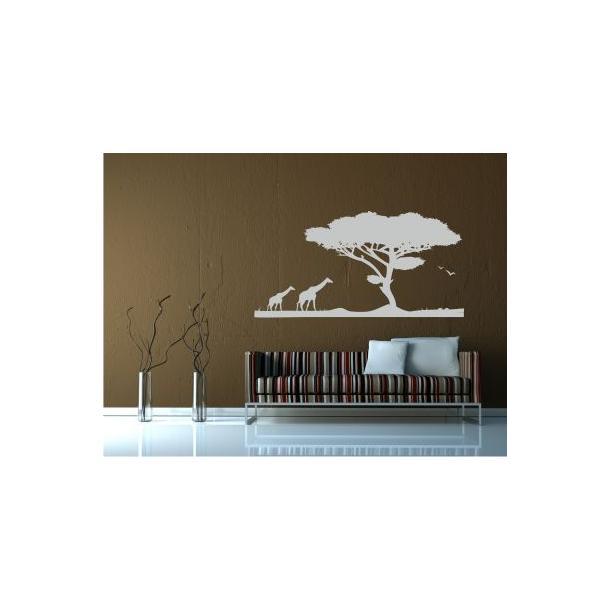 Samolepky na zeď SAFARI color - vzor 6