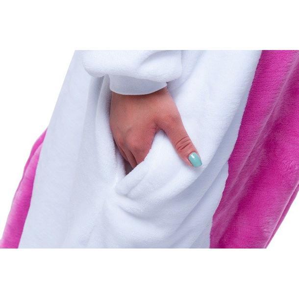Overal KIGURUMI - jednorožec růžovobílý