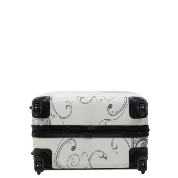 Moderní cestovní kufry MOTÝL - bílé