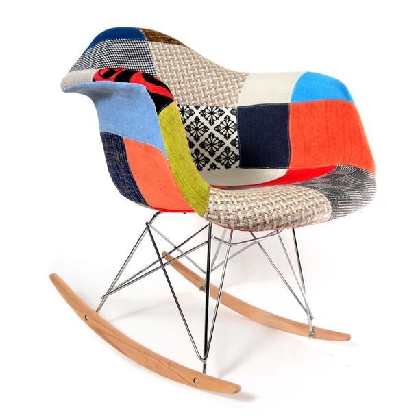 Designové houpací křeslo Andrea - patchwork
