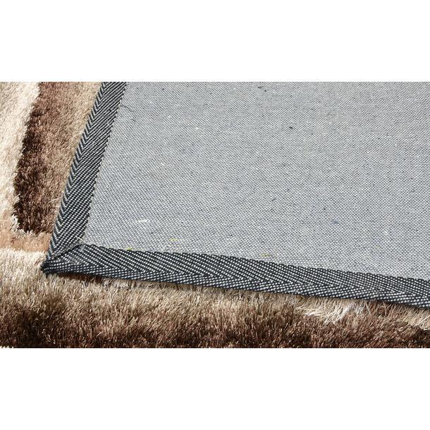 Kusový koberec Shaggy MAX lana - hnědý - vzor 1