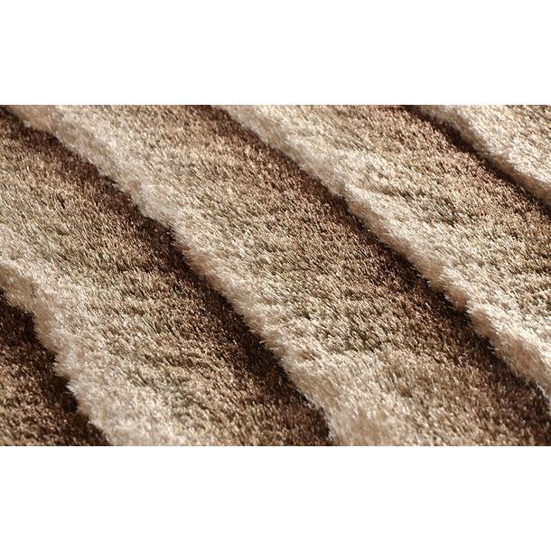 Kusový koberec Shaggy MAX lana - hnědý - vzor 2