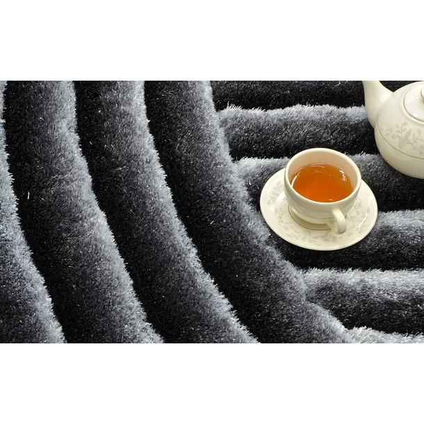 Kusový koberec Shaggy MAX lana - šedý - vzor 2