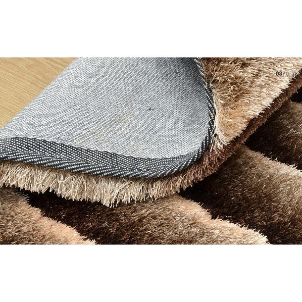 Kusový koberec Shaggy MAX lana - hnědý - vzor 3