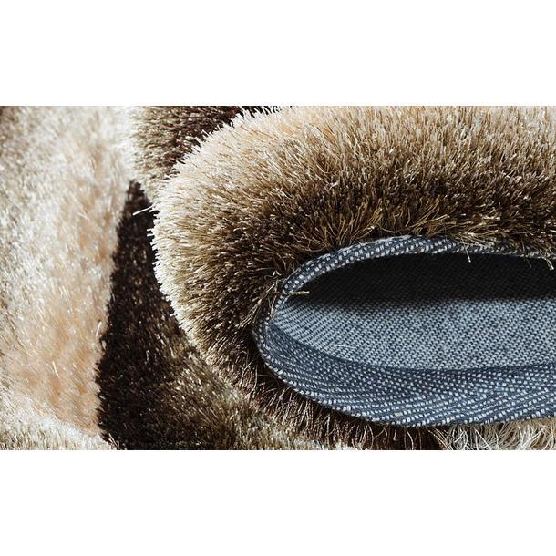 Kusový koberec Shaggy MAX lana - hnědý - vzor 4