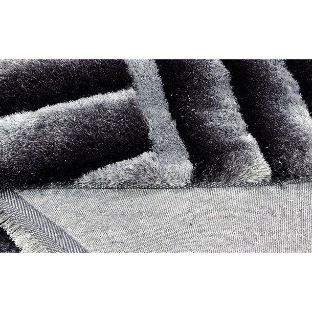 Kusový koberec Shaggy MAX lana - šedý - vzor 4