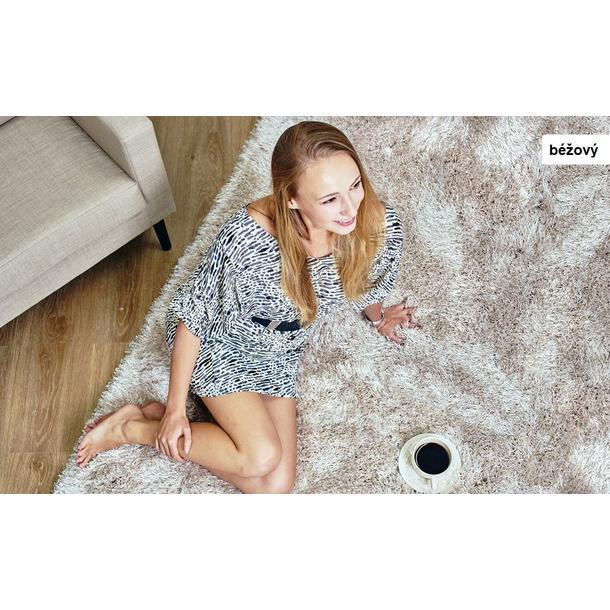 Kusový koberec Shaggy MAX puffy - béžový