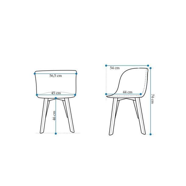 Designová židle Grand - bílá