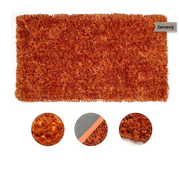 Kusový koberec Shaggy MAX fido - červený
