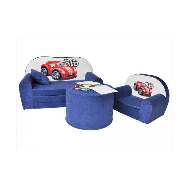 Dětský molitanový stolek - modrý
