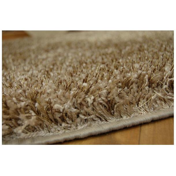 Kulatý koberec SHAGGY NARIN tmavě béžový