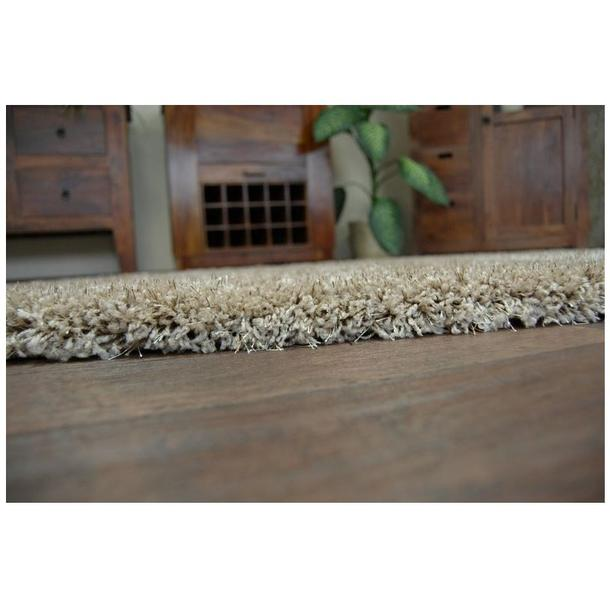 Kusový koberec SHAGGY NARIN tmavě béžový
