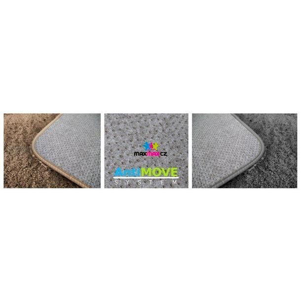 Dětský plyšový koberec ČERNÝ