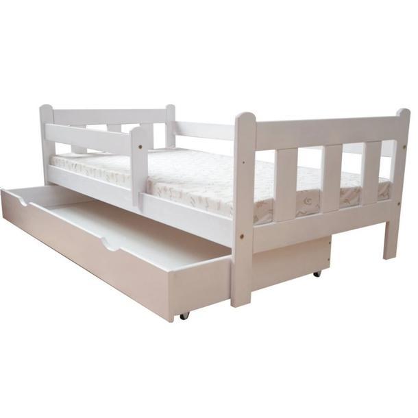 Dětská postel z MASIVU DP 022 - bílá barva