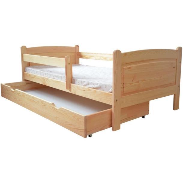 Dětská postel z MASIVU DP023 - bezbarvý lak