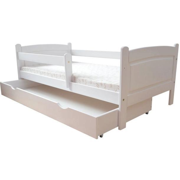 Dětská postel z MASIVU DP 023 - bílá barva