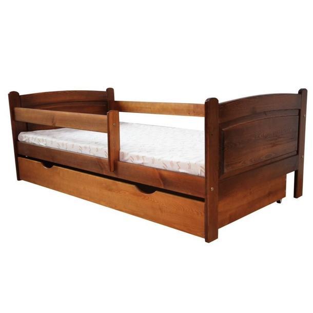 Dětská postel z MASIVU DP 023 - moření dub