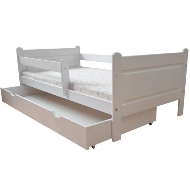 Dětská postel z MASIVU DP 024 - bílá barva