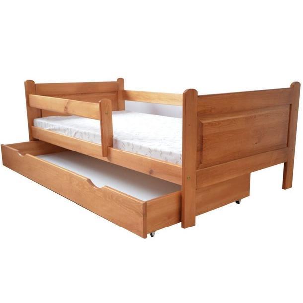 Dětská postel z MASIVU DP 024 - moření olše