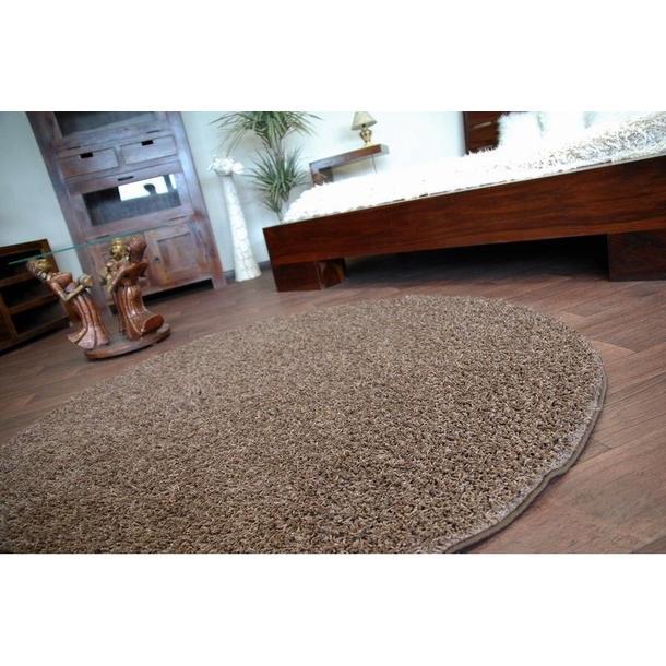 Kulatý koberec MISTRAL SVĚTLE HNĚDÝ