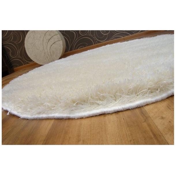 Kulatý koberec SHAGGY NARIN krémový