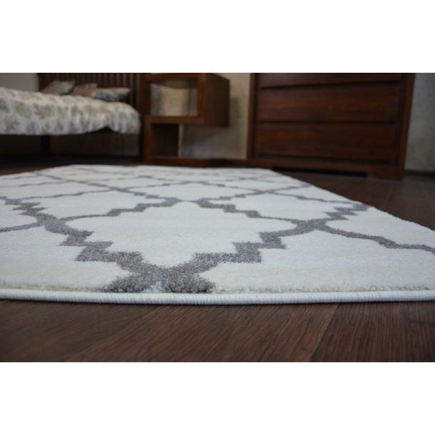 Moderní koberec bílo-šedý F343
