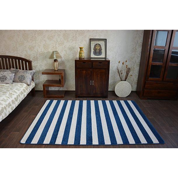 Moderní koberec modro-bílý F758