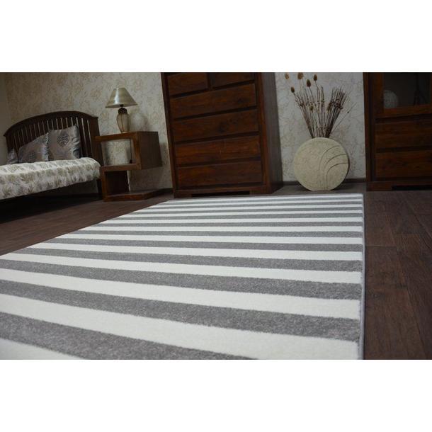 Moderní koberec černo-bílý F343