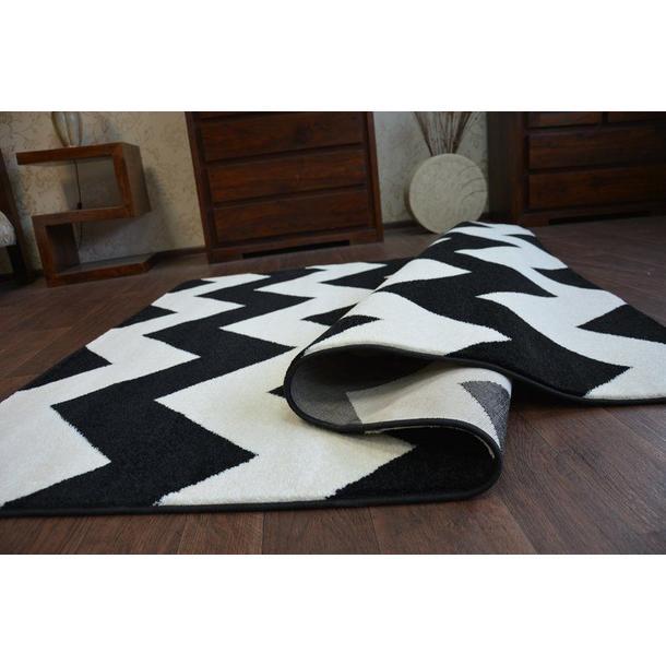 Moderní koberec černo-bílý FA66
