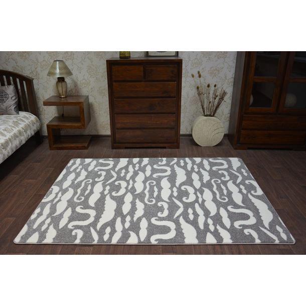 Moderní koberec šedo-bílý FA67