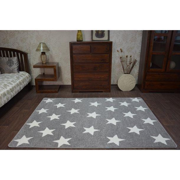 Moderní koberec šedo-bílý FA68