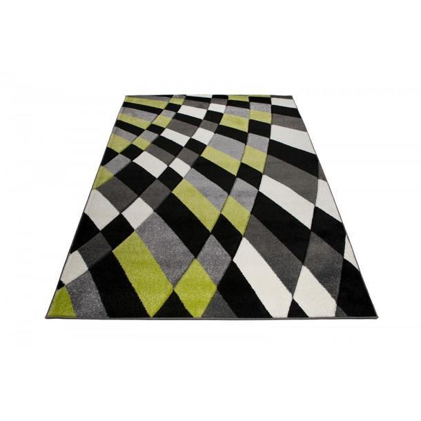 Moderní kusový koberec MATRA zeleno-černý 3495B