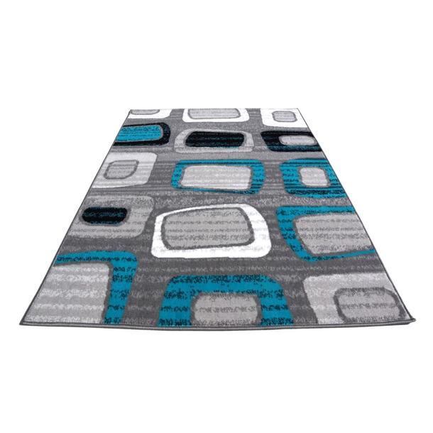 Moderní koberec BCF 0771 - šedo-modrý