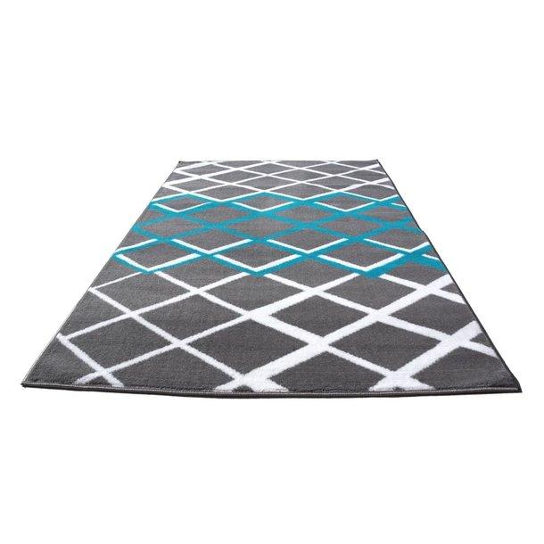 Moderní koberec BCF 2015 - šedo-modrý