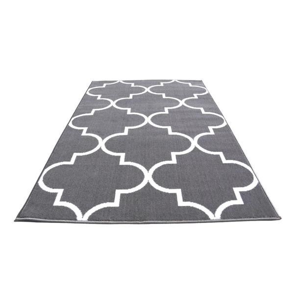 Moderní koberec BCF 2016 - šedo-bílý