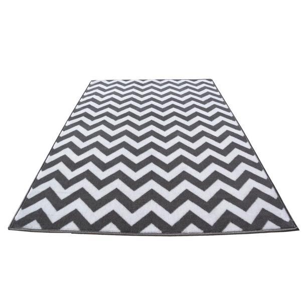 Moderní koberec BCF 2028 - šedo-bílý