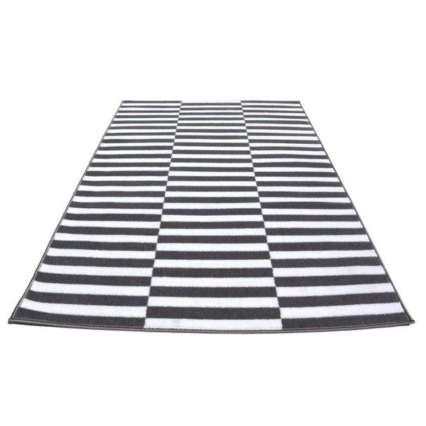 Moderní koberec BCF 2078 - šedo-bílý