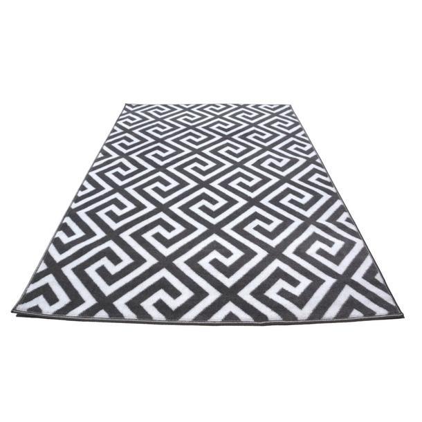 Moderní koberec BCF 2081 - šedo-bílý