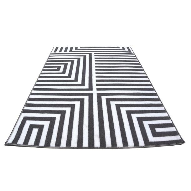 Moderní koberec BCF 2082 - šedo-bílý
