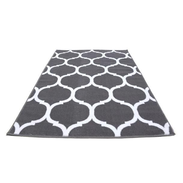 Moderní koberec BCF 2083 - šedo-bílý