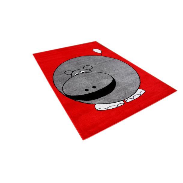 Dětský koberec Hrošík - červený