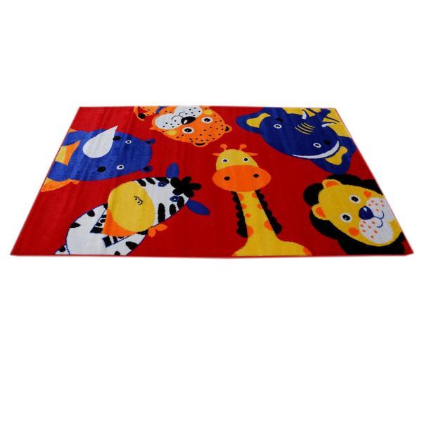 Dětský koberec Safari - červený