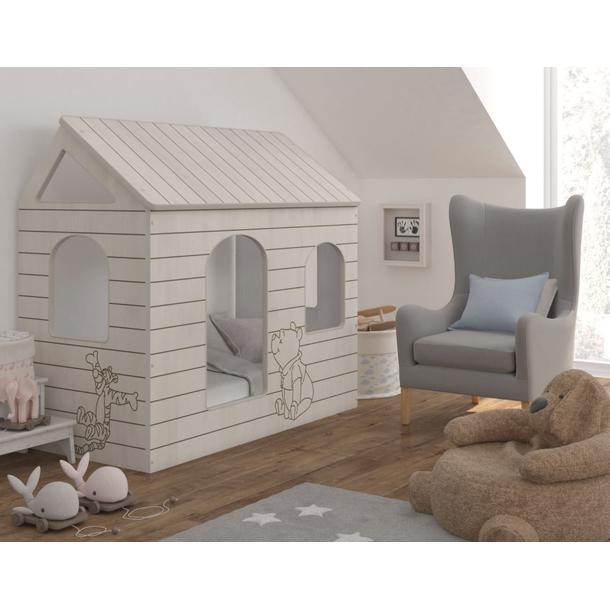 Dětská postel DOMEK Disney - MEDVÍDEK PÚ A TYGŘÍK 160x80 cm