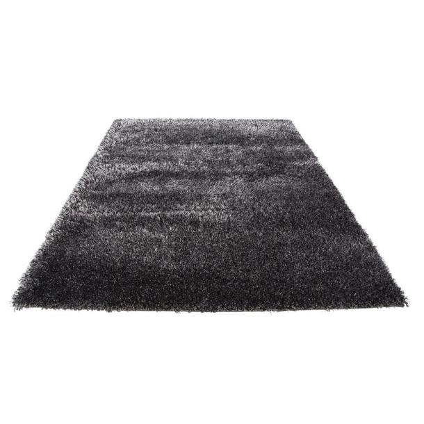 Kusový koberec SHAGGY FLUFFY - černo-bílý