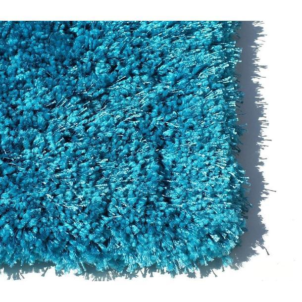 Kusový koberec SHAGGY FLUFFY - tyrkysový