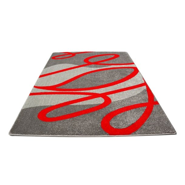 Moderní koberec NEO 4444 - šedo-červený